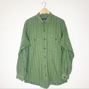 Patagonia Mens Flannel Button Up Size Large